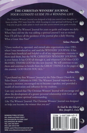 The Christian Winners Journal - Loose Leaf Journal Insert 2019