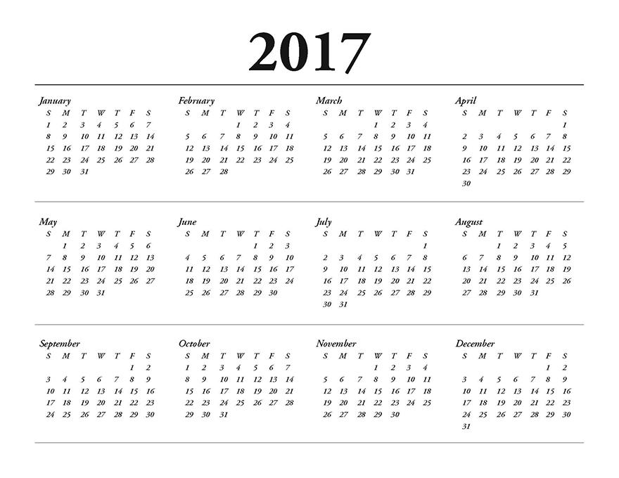 Flip Calendar 2017